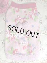 ピンク水玉の美しいお花達◆毎年恒例のあったか〜〜いポンポンフリースウェア!!