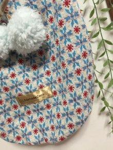 他の写真2: 水色スノーパウダー柄◆セーターみたい〜水色ポンポン付き