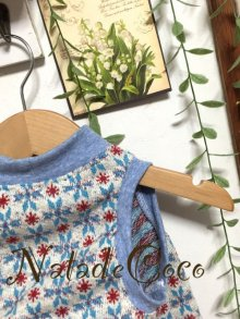 他の写真3: 水色スノーパウダー柄◆セーターみたい〜水色ポンポン付き
