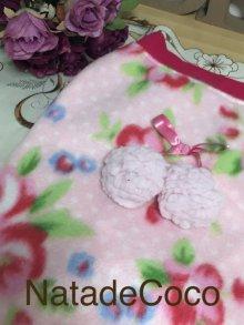 他の写真2: ピンク水玉の美しいお花達◆毎年恒例のあったか〜〜いポンポンフリースウェア!!